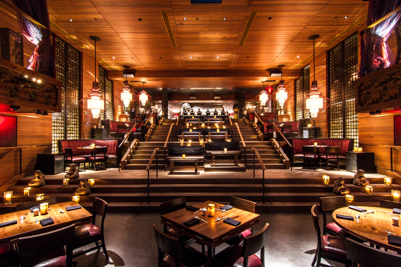 ceiling millwork ideas - Tao Downtown NYC
